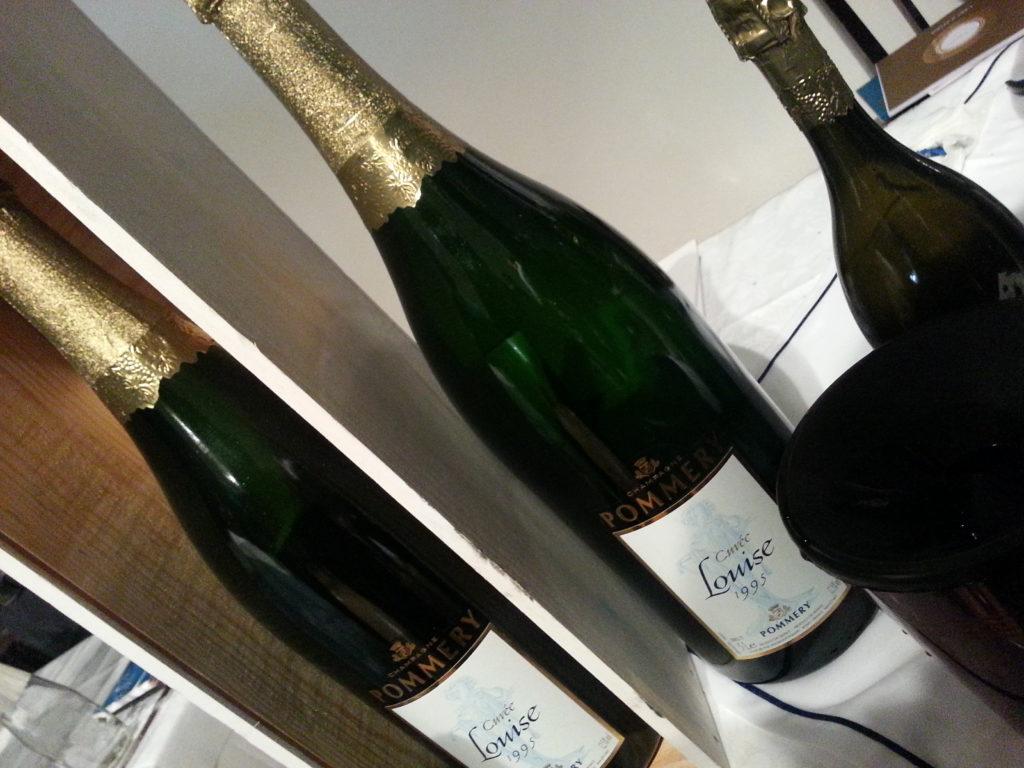 Bottiglie di Champagne Pommery - Cuvée Louise 1995